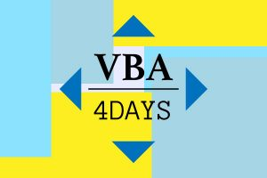 VBA資格を四日で取得