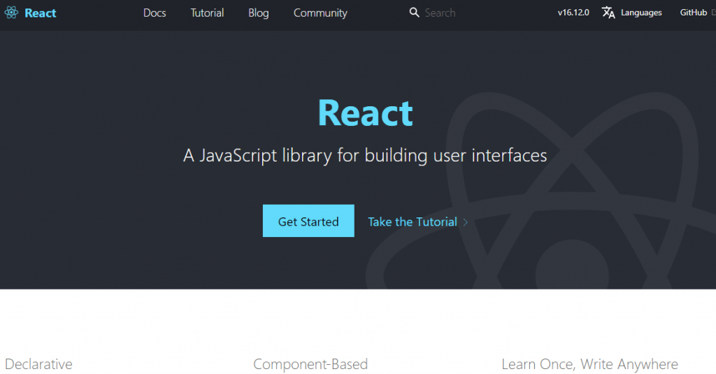 React.jsのHP
