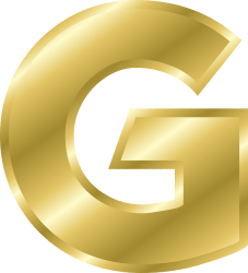金色のGのPNG画像