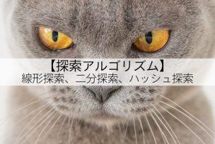 【探索アルゴリズム】線形探索/二分探索/ハッシュ探索について