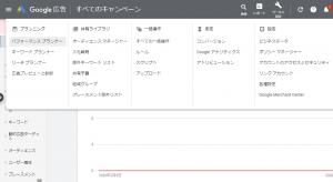 Googleキーワードプランナーへの遷移方法の画像
