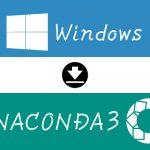 Windowsにanaconda3をインストール