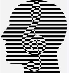 人の頭部 ト音記号